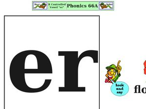 "R Controlled Vowel ""er"" Worksheet"