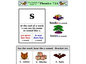 "Two Sounds of Final ""s"" Worksheet"