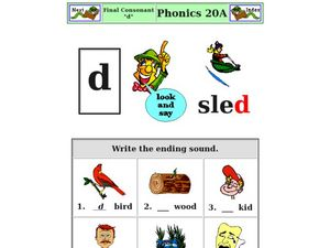 Final Consonant: D Worksheet