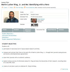 Martin Luther King, Jr. and Me: Identifying with a Hero Lesson Plan