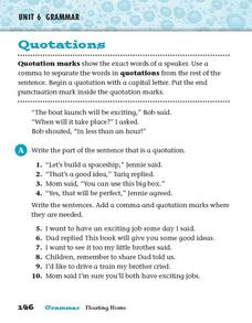Grammar: Quotations Worksheet