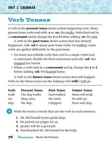Grammar: Verb Tenses Worksheet