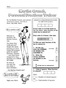 Math Crunch, Personal Fractions Trainer Worksheet