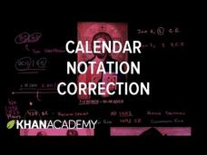 Correction Calendar Notation Video