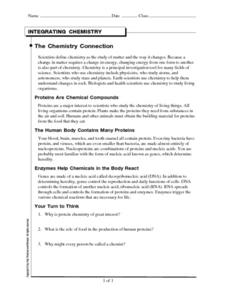 The Chemistry Connection Worksheet