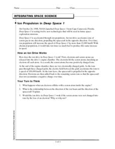 Integrating Space Science-Ion Propulsion in Deep Space I Worksheet