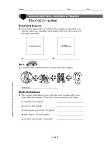 The Cell in Action Worksheet