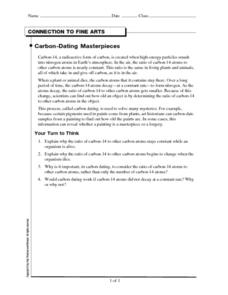 Carbon 14 dating worksheet answers