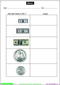 Money: How Much is It? Worksheet