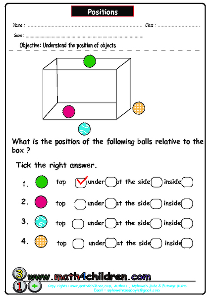 positions understanding the positions of objects worksheet for pre k lesson planet. Black Bedroom Furniture Sets. Home Design Ideas