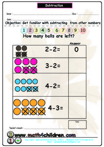 Subtraction Activity Worksheet
