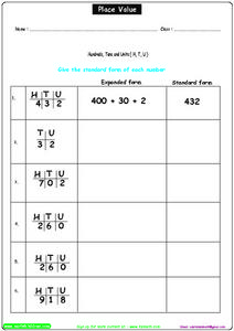 Place Value 5 Worksheet
