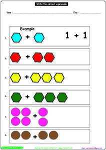Math: Writing the Correct Expression Worksheet