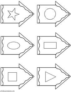 Birdhouse Shape Match File Folder Game Graphic Organizer