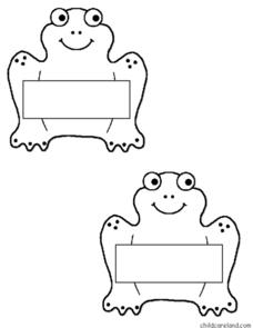 Two Frogs With Writing Spaces Worksheet