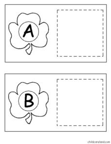 Upper and Lower Case Alphabet Letters: Shamrocks Worksheet