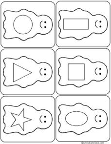 Ghost Card Match Game Worksheet