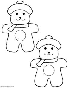 Snow Bears Color Match Worksheet
