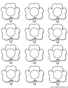 Shamrock Color Match File Folder Game Worksheet for Pre-K