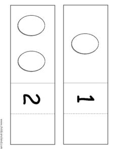 Egg Counting Fold-up Cards Worksheet