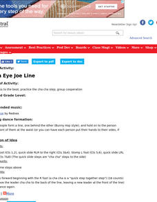 Cotton Eye Joe Line Lesson Plan