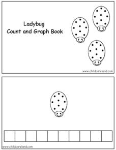 Ladybug Count and Graph Book Worksheet