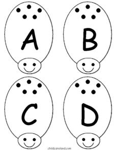 Ladybug Alphabet Match Worksheet