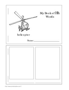 My Book of Hh Words Worksheet