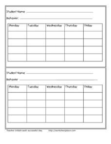 Behavior Contract Worksheet