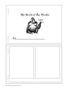 My Book of Aa Words Worksheet