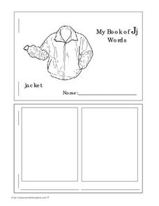 My Book of Jj Words Worksheet