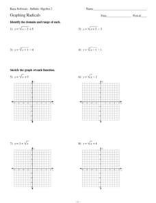Graphing Radicals Worksheet