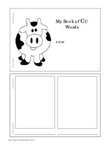 My Book of  CC  Words Worksheet