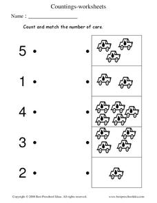 Count and Match Worksheet