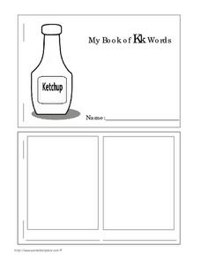 My Book of Kk Words Worksheet