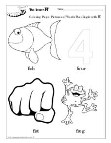 The Letter Ff Coloring Page Worksheet