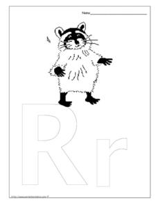 Letter Recognition - R r Worksheet