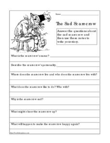 The Sad Scarecrow Worksheet