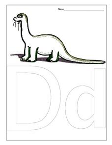 Dd is for Dinosaur Worksheet
