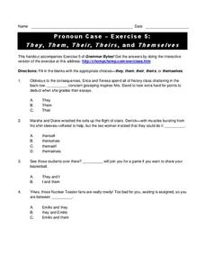 Pronoun Case - Exercise 5: They, Them, Their, Theirs, and Themselves Interactive