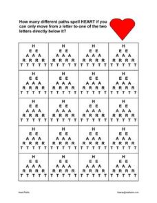 Heart Path Worksheet