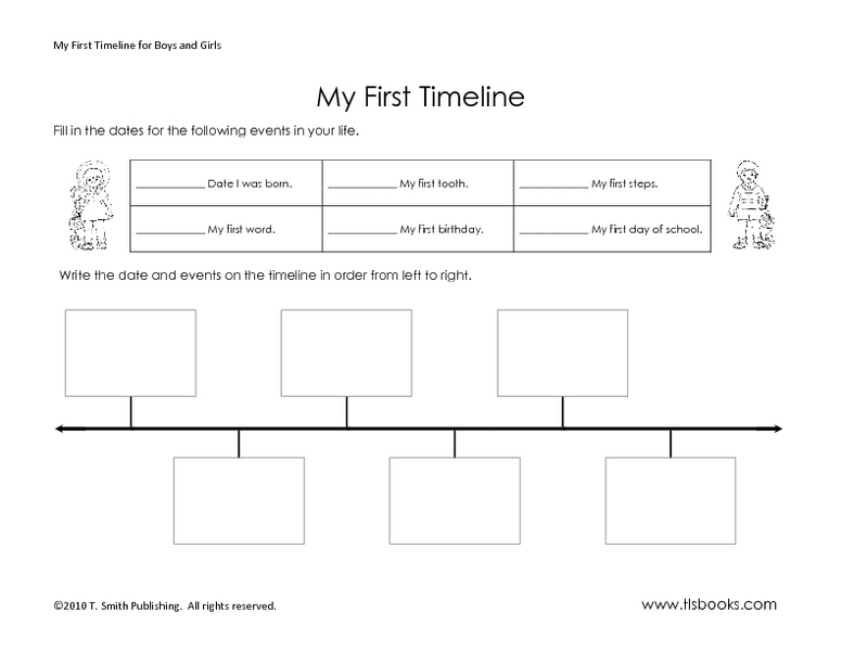 My First Timeline Worksheet