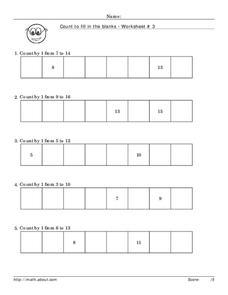 Count by 1 Worksheet