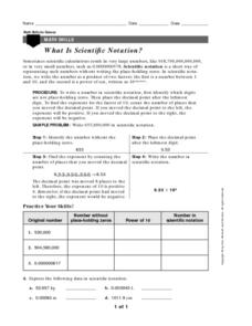 What is Scientific Notation? Worksheet