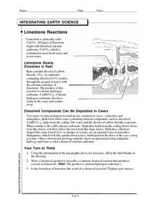 Limestone Reactions Worksheet