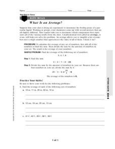 What is an Average? Worksheet