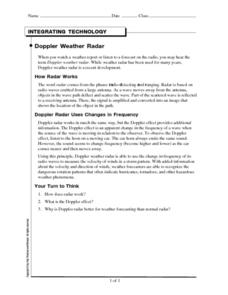 Doppler Weather Radar Worksheet