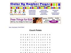 Couch Potato Worksheet