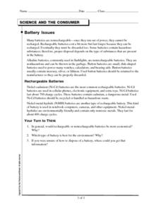 Battery Issues Worksheet