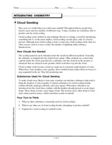 Cloud Seeding Worksheet